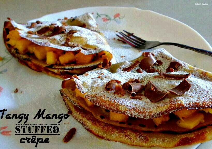 Tangy Stuffed Mango Crepe
