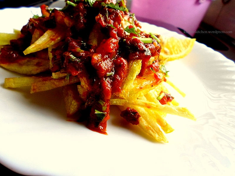 Rosemary Fries with white wine sauce