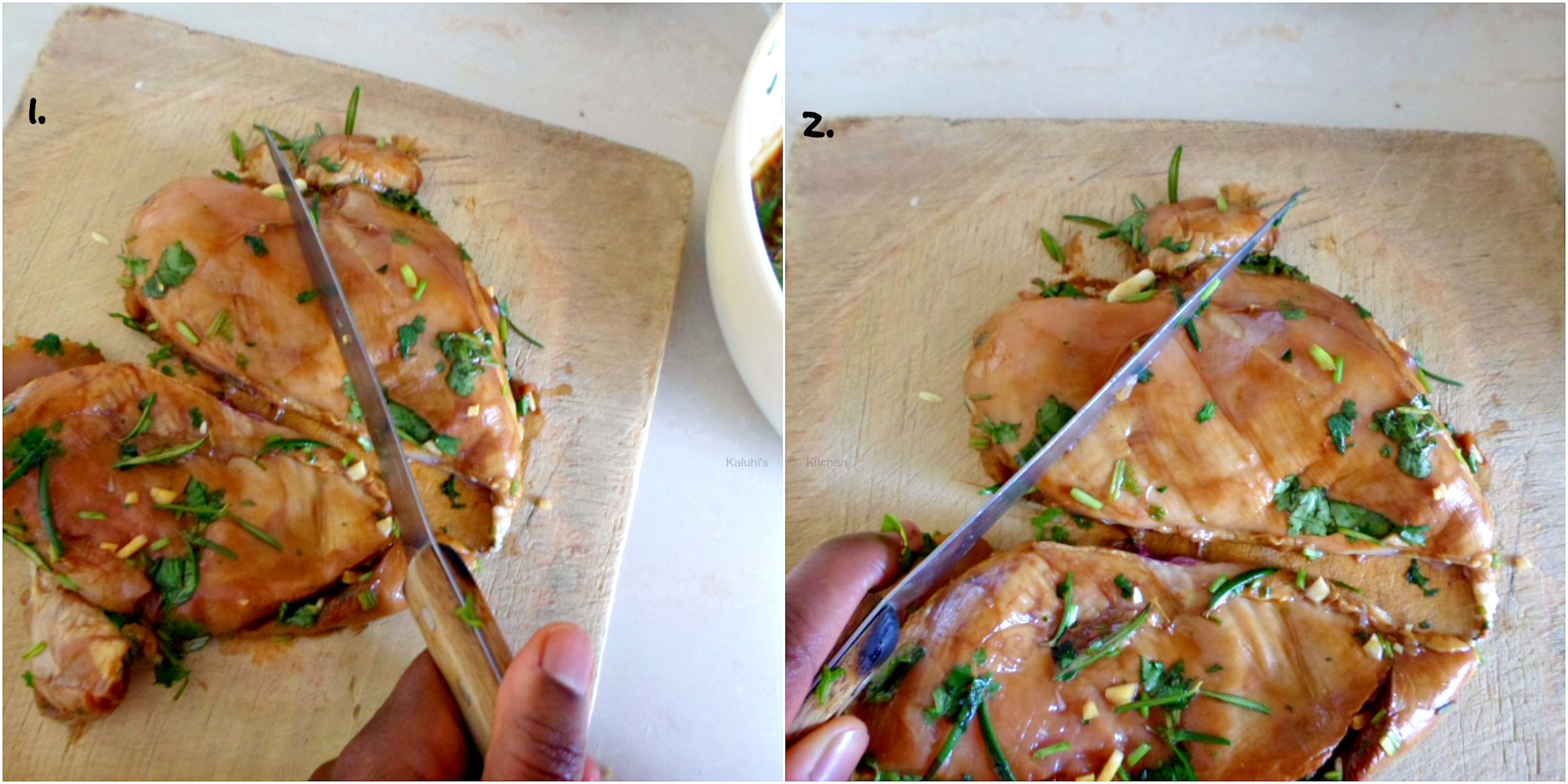 How to cut chicken breast