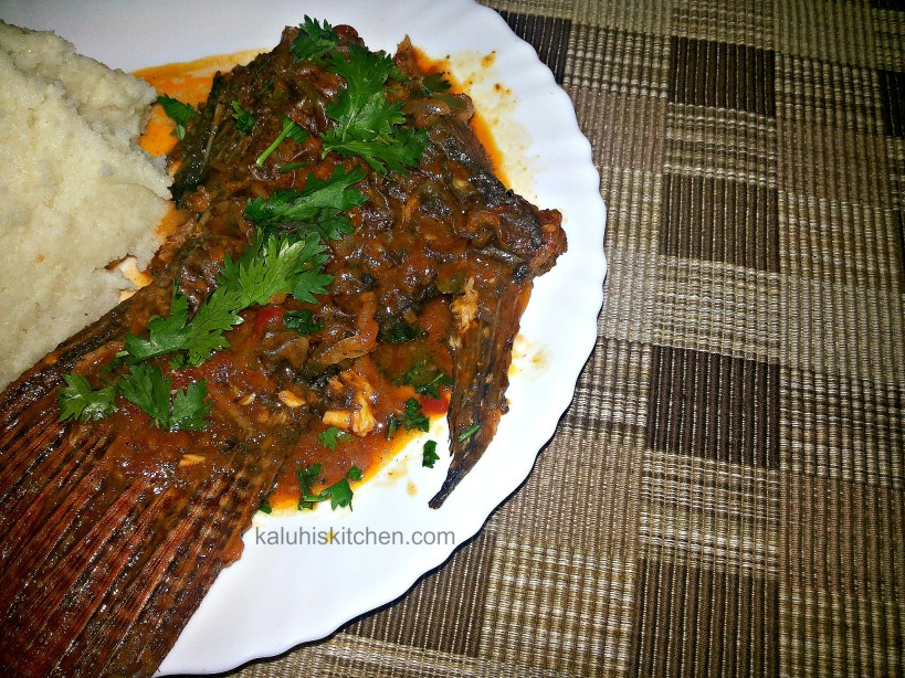 Kenyan Food_fishcurry with garlic and lemon