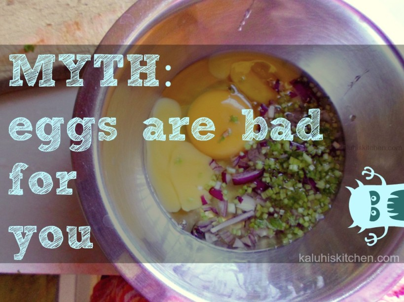 Food Myths debunked-food myth- eggs are bad for you fact- they contain alot of nutrients such as zinc, protein and lots of vitamins