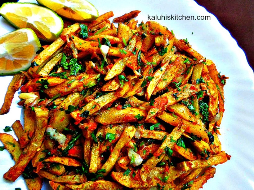 Kenyan Food_Masala Fries_Garlic masala fries give an interesting twist to ordinary french fries