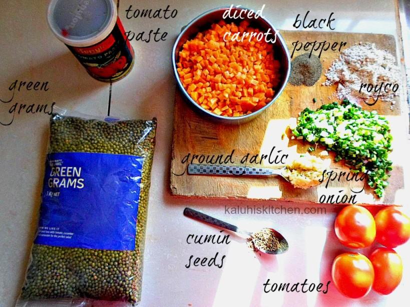 ndengu ingredients_how to cook ndengu_how to cook green grams