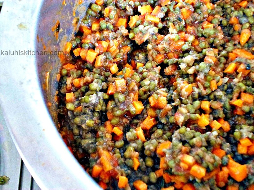 ndengu is high in protein and cooking it iwith carrots increases its nutritional content
