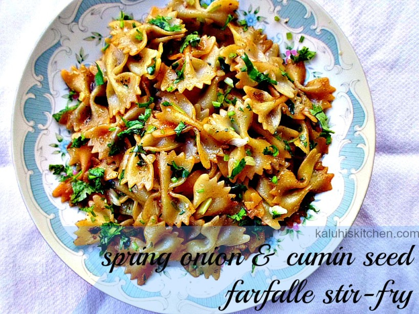 spring onion and cumin seed farfalle stir fry_farfalle stir fry_pasta recipes_best kenyan food blog_easy recipe