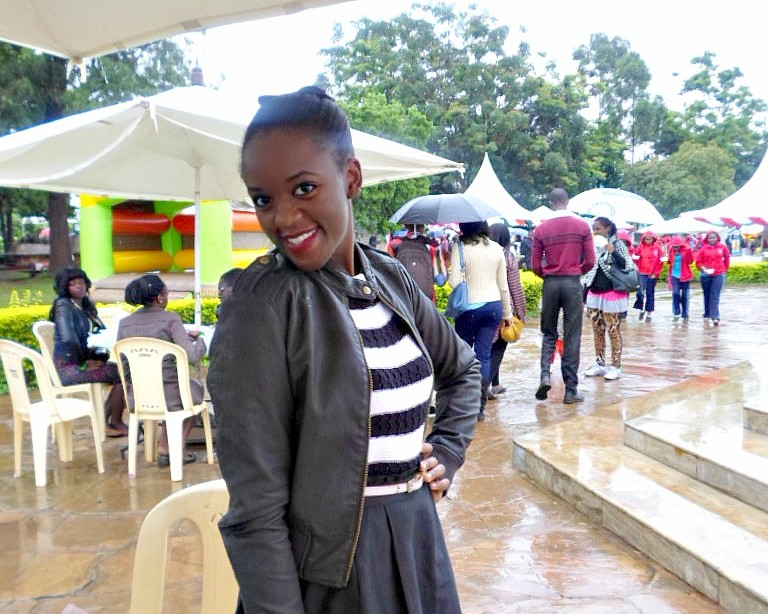 Kenyan Food Blogger Kaluhi Adagala at the Cake festival 2015