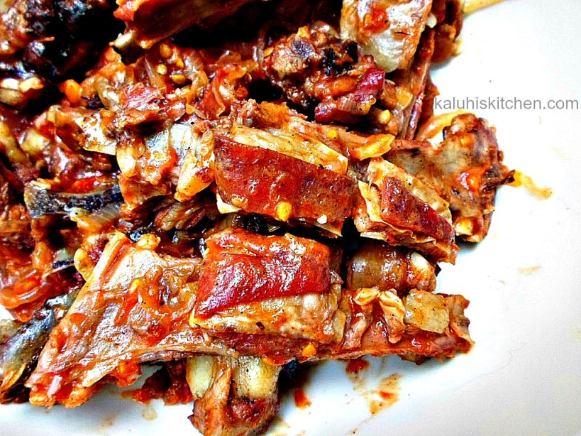 Kenyan food_Nyamachoma can be transformed into a more succulent by simmering it in tomatoes and some chili