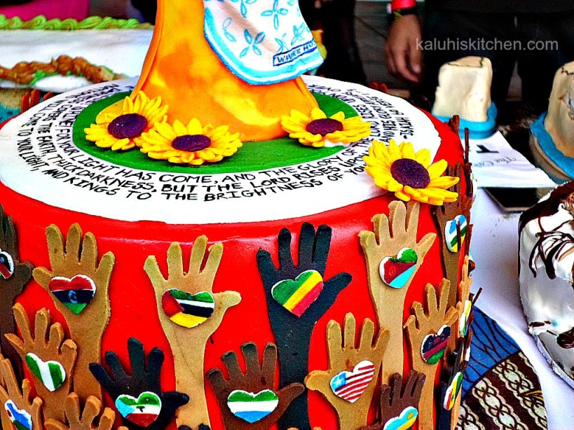 beatiful cake at the annual cake festival in nairobi kenya from an unnamed stand