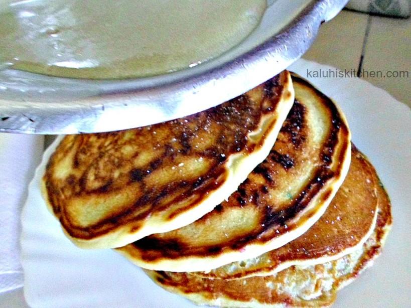 heavy cream coating for the pancakes_funfetti pancakes with orange ZEST_Kenyan food bloggers