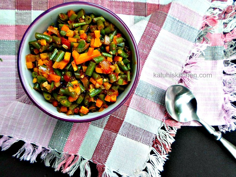 kenyan food blogs_kaLUHIS kITCHEN_french beans and carrots sautee