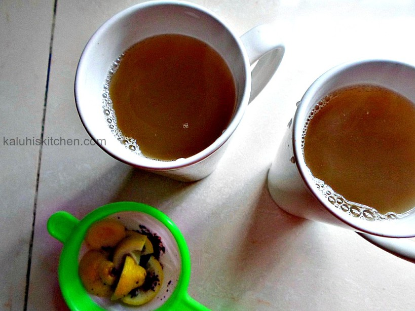 Kaluhis Kitchen_Kenyan food blogs_Honey lemon and cinnamon  tea