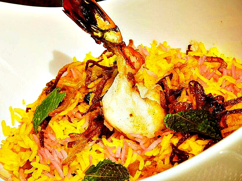 Seafood-Biryani-kenyan food with international appeal as served at the flame tree restaurant Nairobi