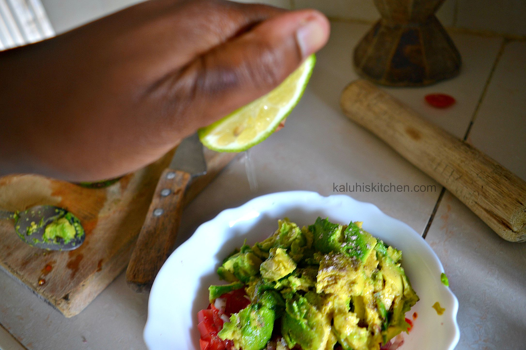 adding lime to the guacamole adds some acidity to the guacamole and some juiciness too_kaluhiskitchen.com