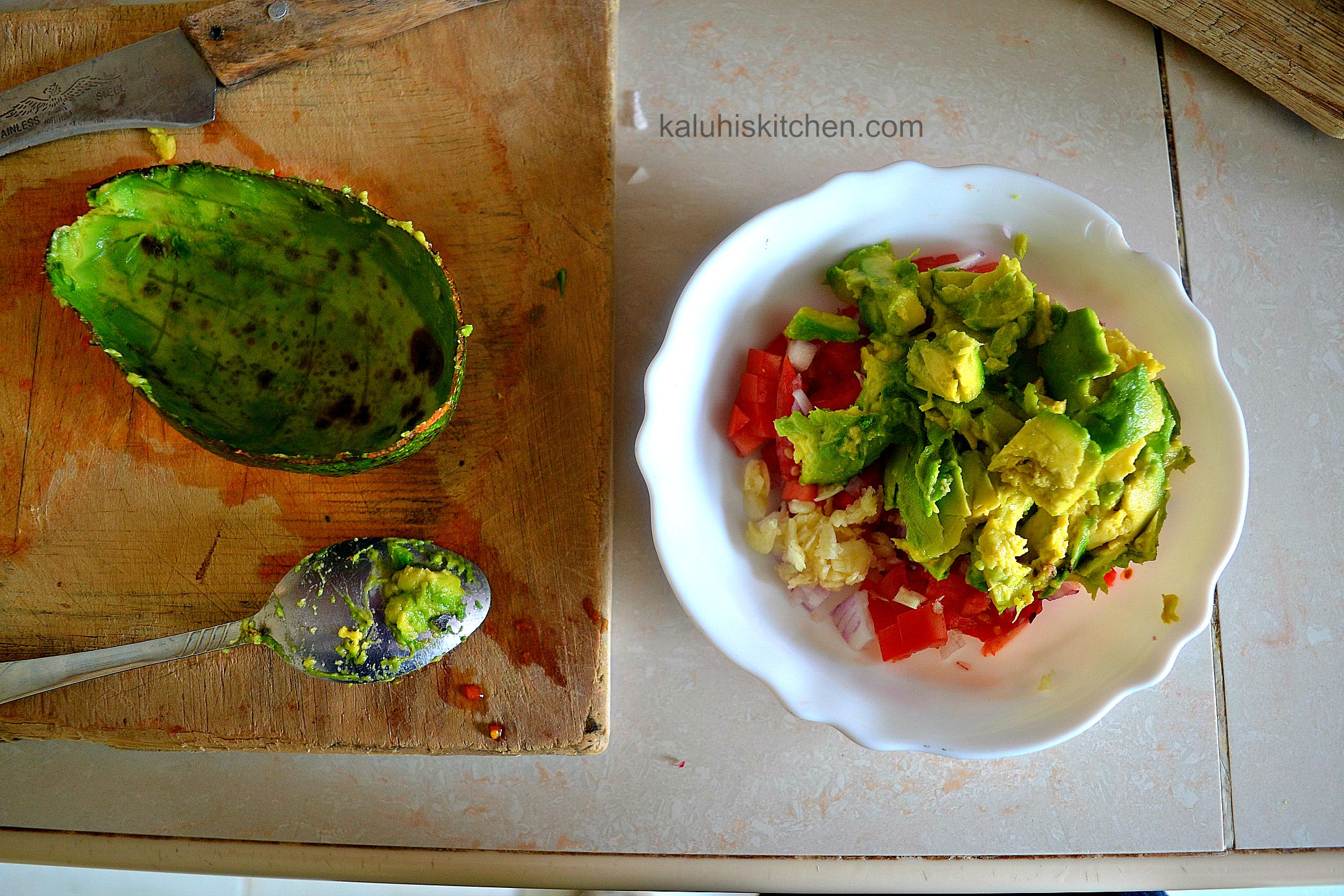 ensure your avocado is ripe before using it in your guacamole_a raw avocado will not mix as well and an overripe avocado will result in avocado soup instead of guacamole