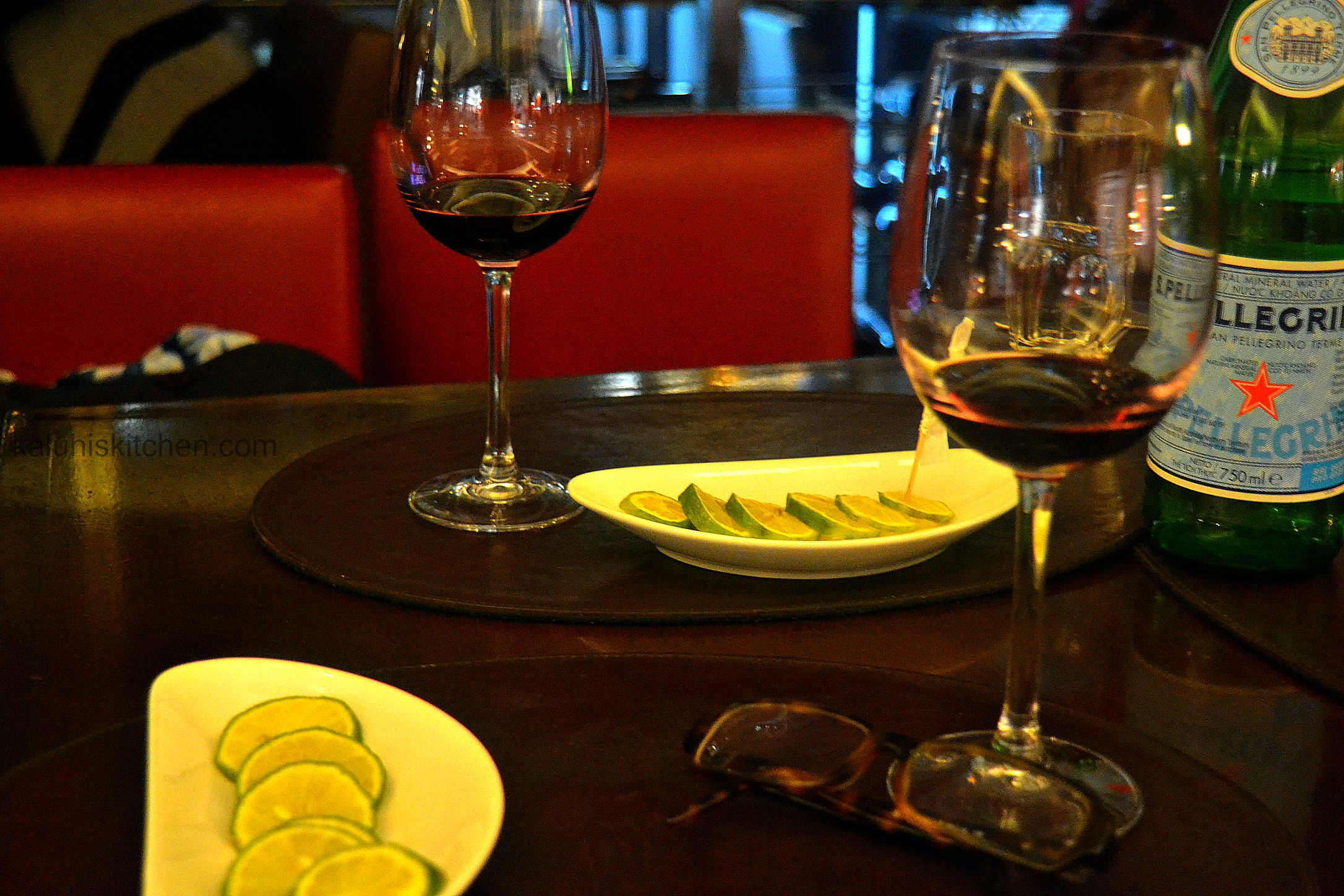 spanish wine at the salt bar and grill_ salt grill and bar array of different wines and other drinks. Only the best found at salt_kaluhiskitchen.com