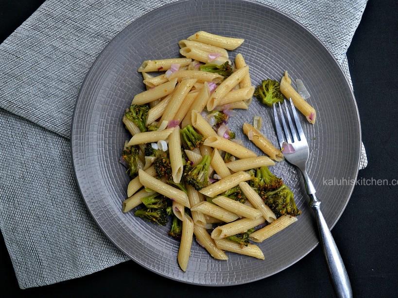 top kenyan food blogs_kaluhiskitchen.com_broccoli and garlic penne stir fry_penne recipes