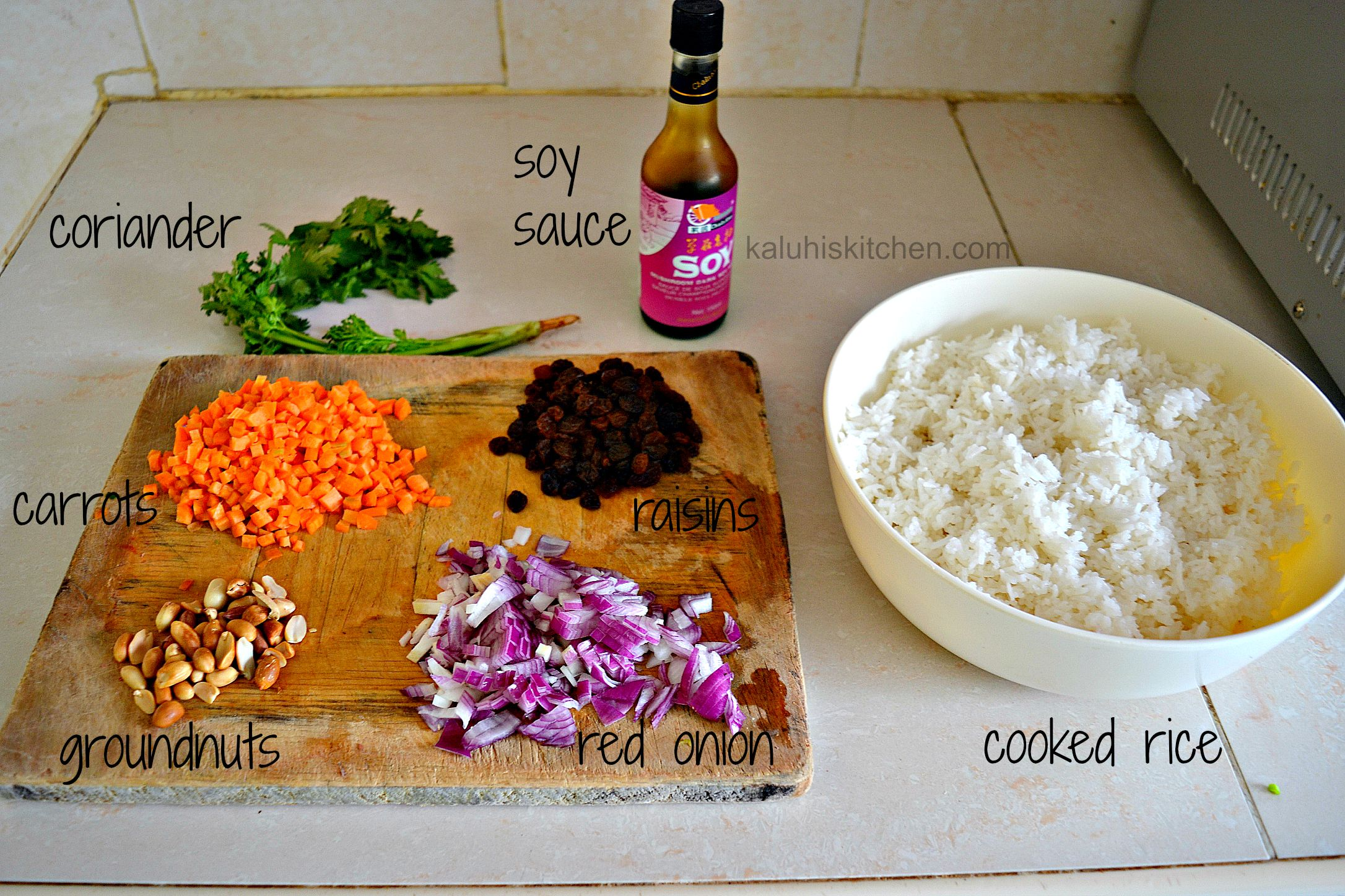 carrots and raisin fried rice ingredients_kaluhiskitchen.com_fried rice