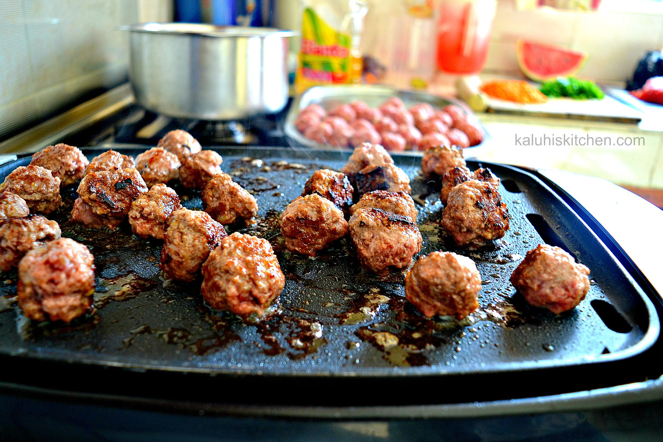 grilling meatballs for the tikka masala gives them a pleasant char and shortens cook time_kaluhiskitchen.com