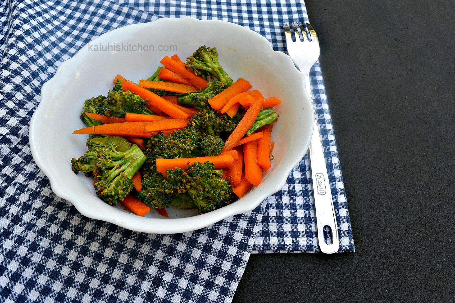 how to make broccoli taste alot more delicious_kaluhiskitchen.com_carrots and broccoli chili caramel_best kenyan food blog