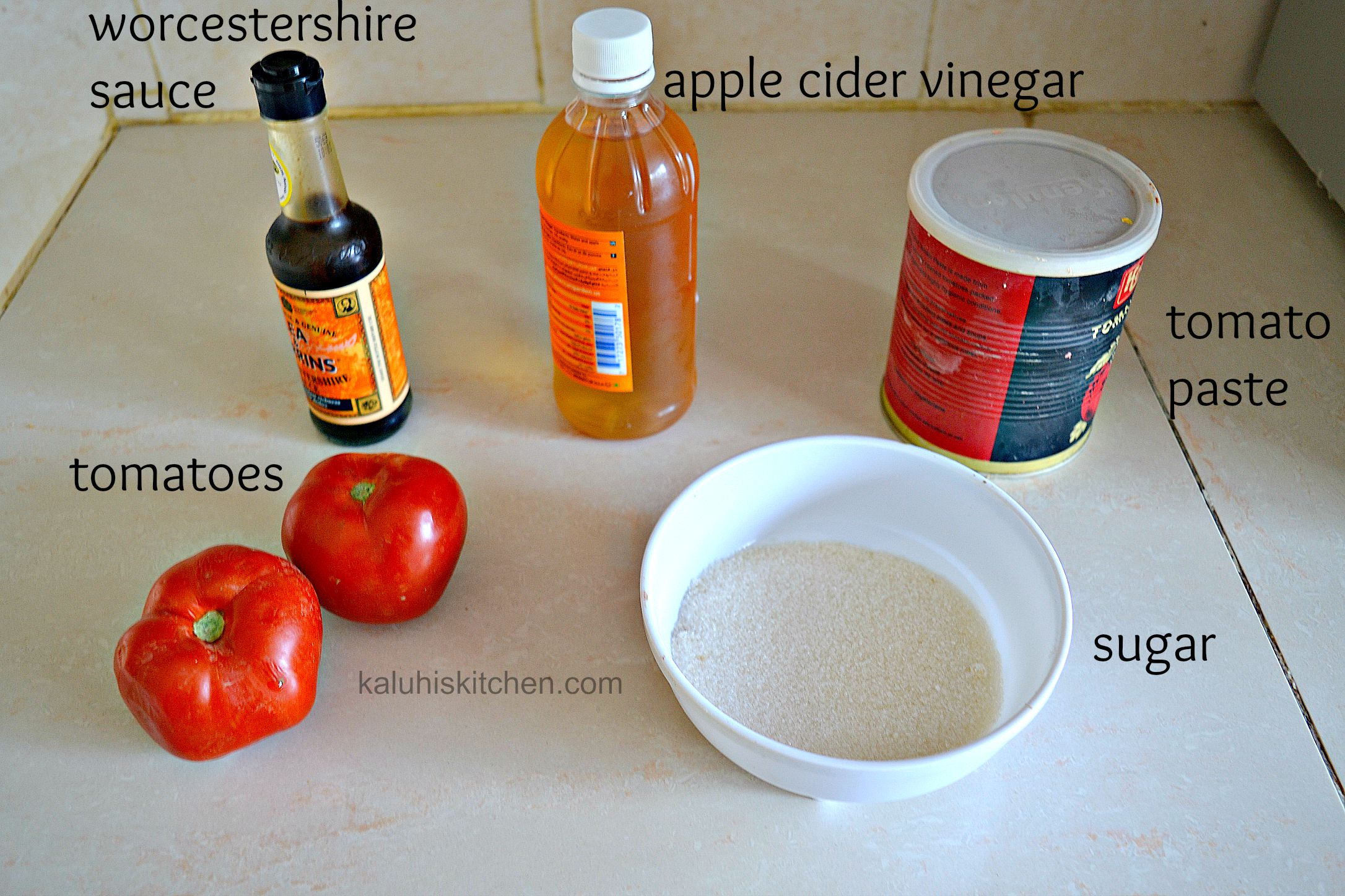 how to make sweet and sour sauce ingredients_pork chunks_kaluhiskitchen.com