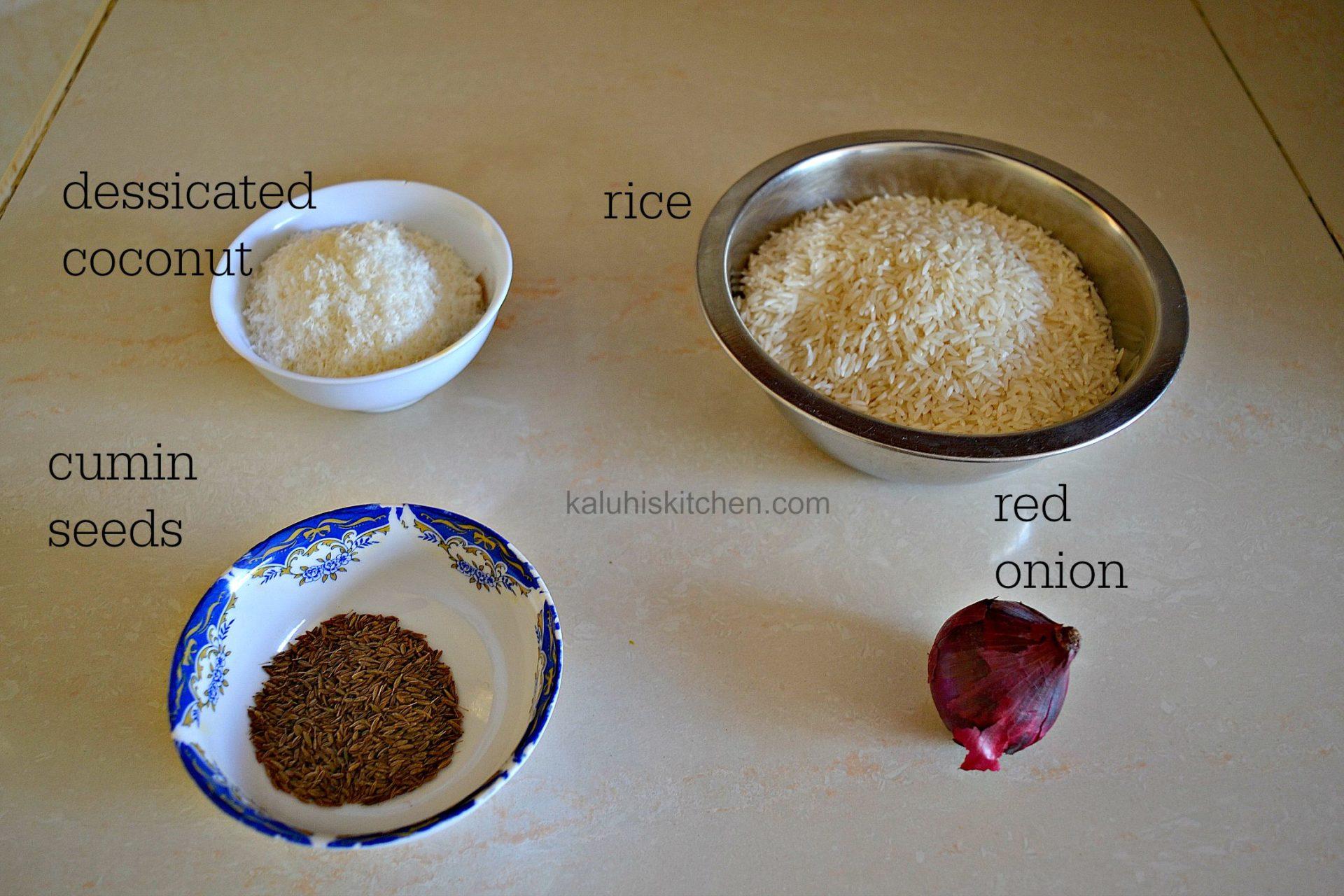 how to make wali wa nazi_wali wa nazi ingredients_kenyan food_kaluhiskitchen.com