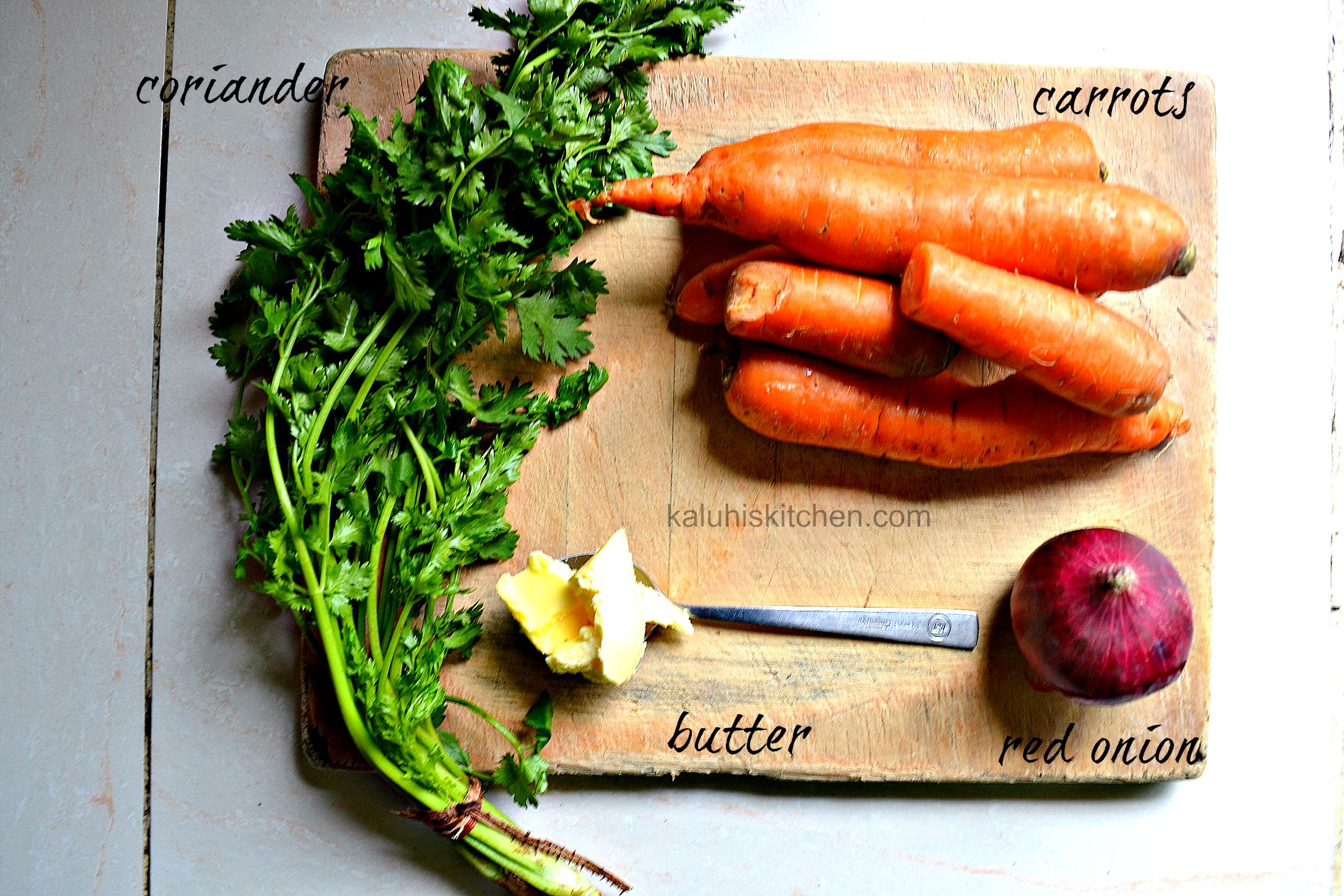 ingredients for buttered carrots_kaluhiskitchen.con_carrot recipes