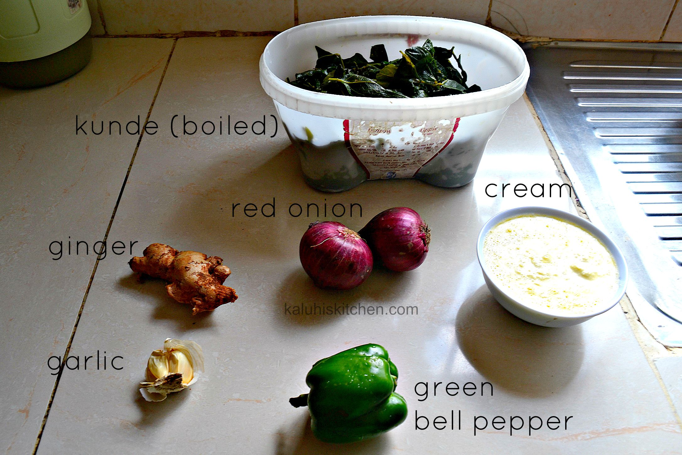 ingredients for cooking kunde_how to make kunde_kenyan food_kaluhiskitchen.com
