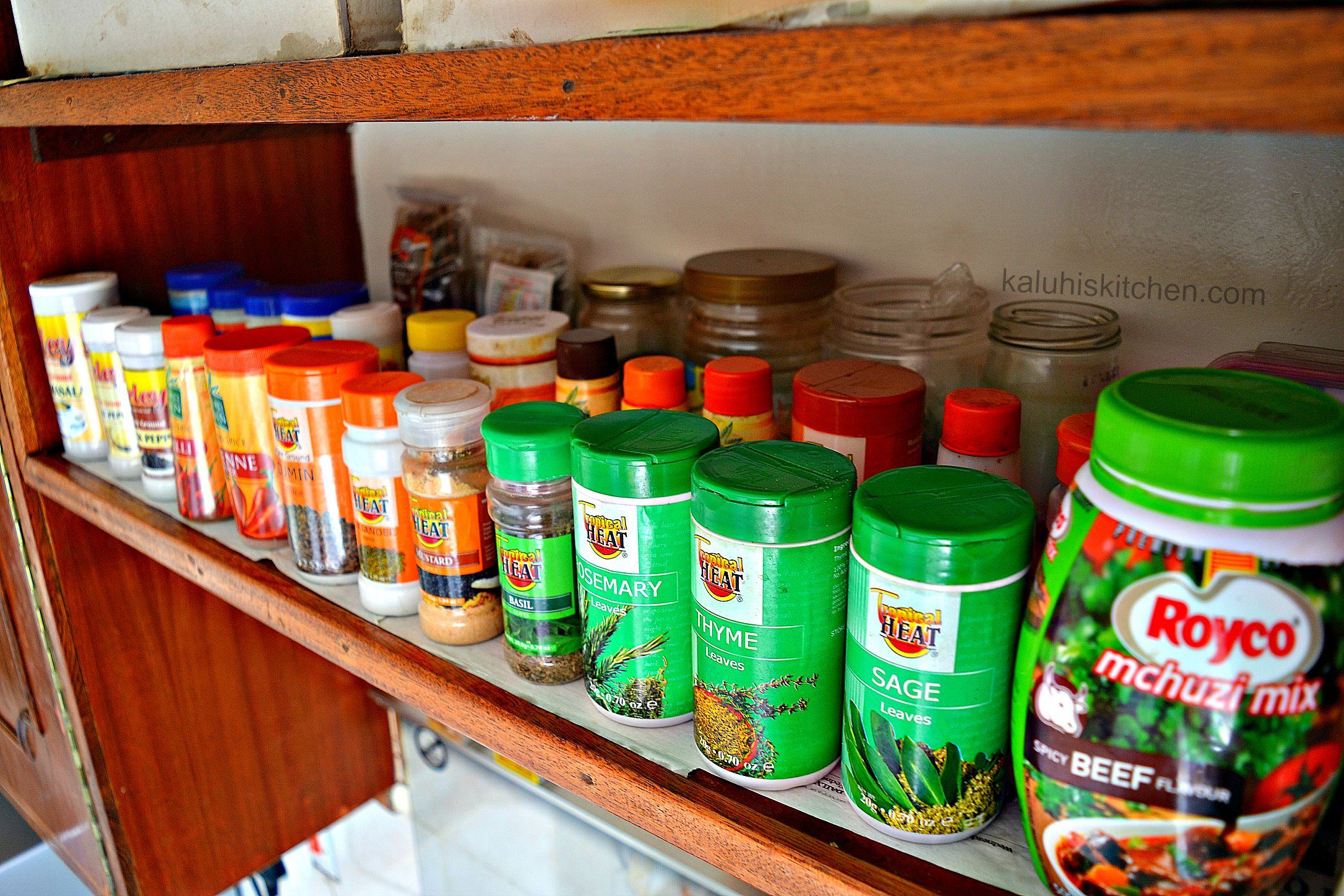 it is important to stock up on spices if you want to improve on your cooking__spice collection of kenyan food blogger kaluhi adagala of kaluhiskitchen