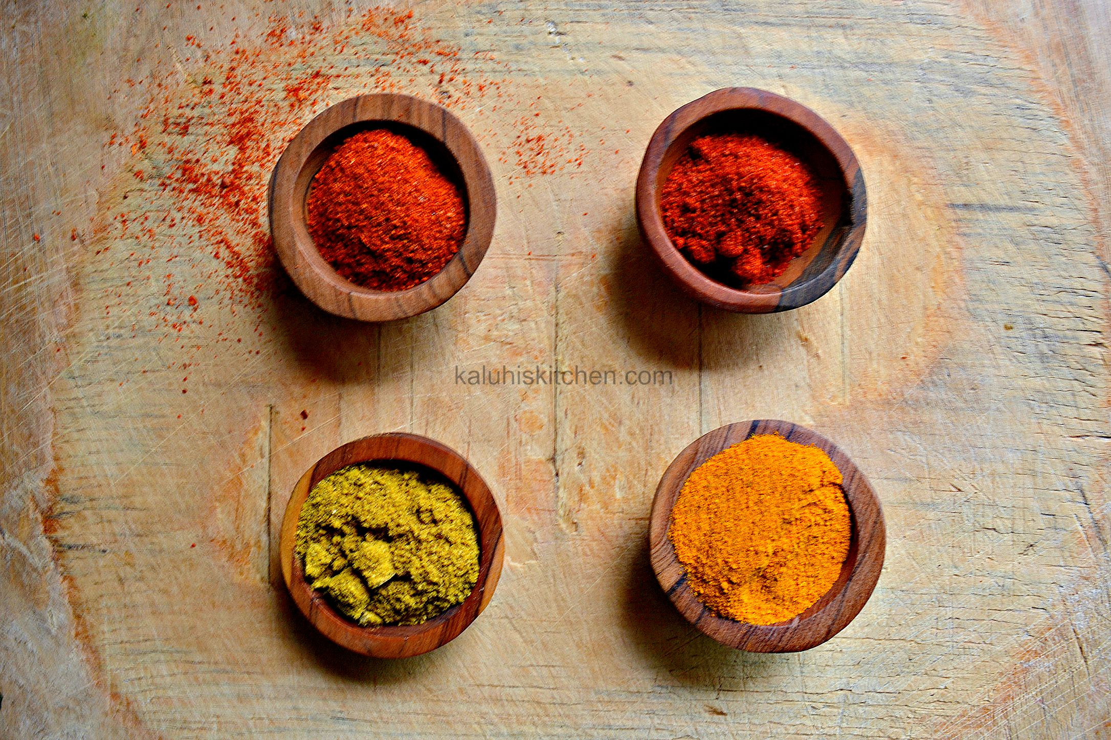 kenyan food blogs_the strongest spices in the pantry of kaluhi adagala are cayenne, chili, curry and turmeric. The first two are strong in flavor while the other two in color_kaluhiskitchen.com
