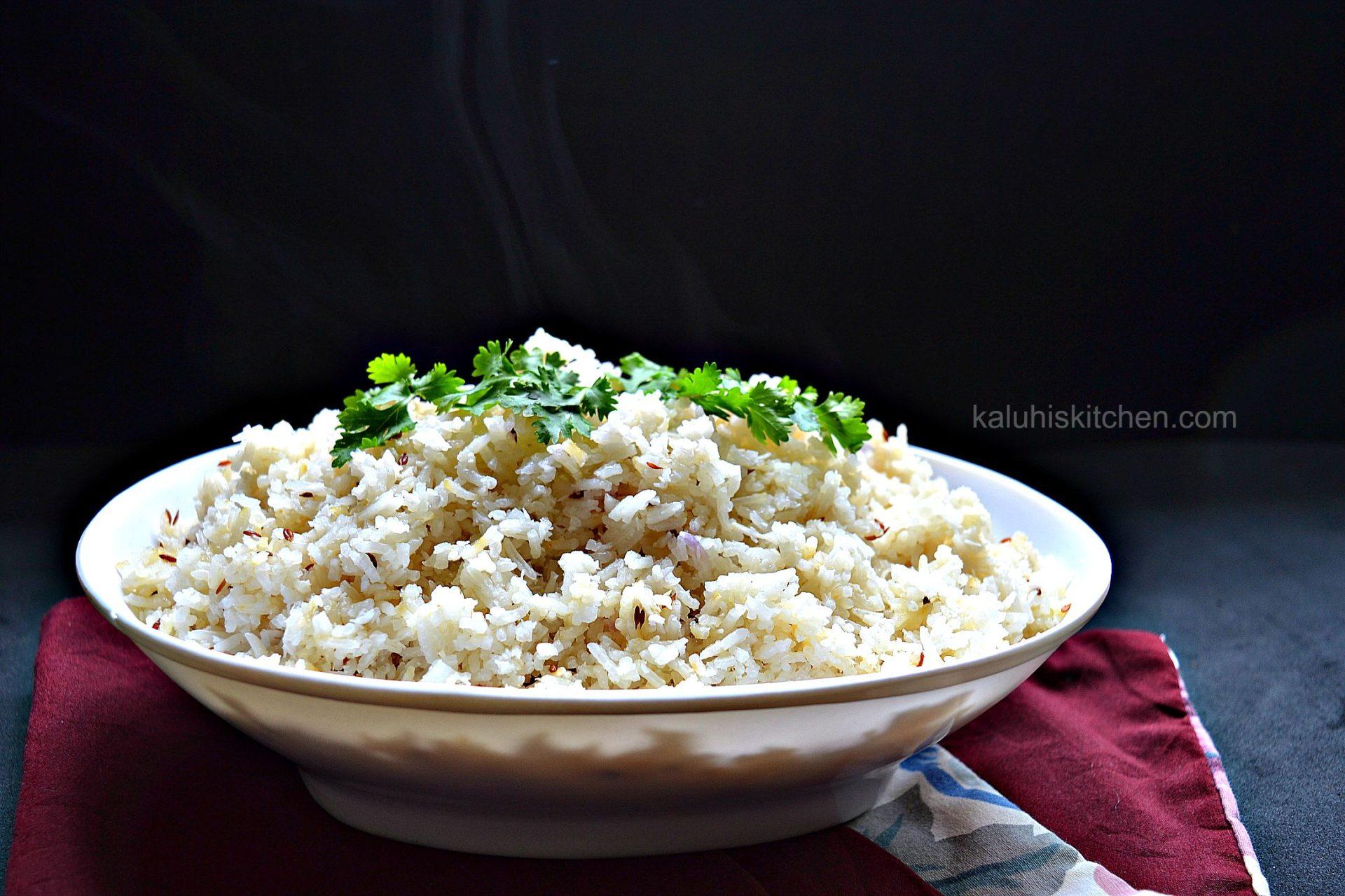 kenynan food_wali wa nazi with whole cumin seeds_coconut rice_kaluhiskitchen.com