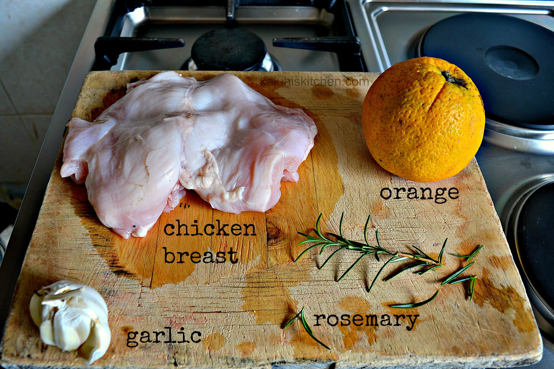 saucy orange and ginger chicken marinade ingredients_kaluhiskitchen.com