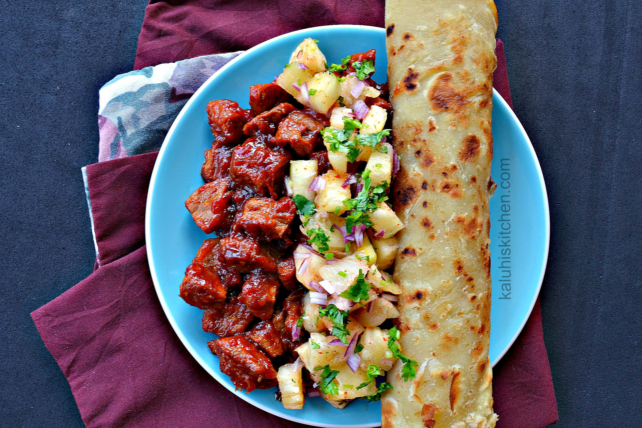 sweet and sour pork with pineapple salsa_how to make sweet and sour pork_kaluhiskitchen.com_best kenyan food blog