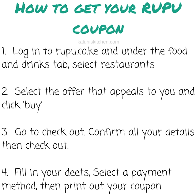 How to get your RUPU coupon