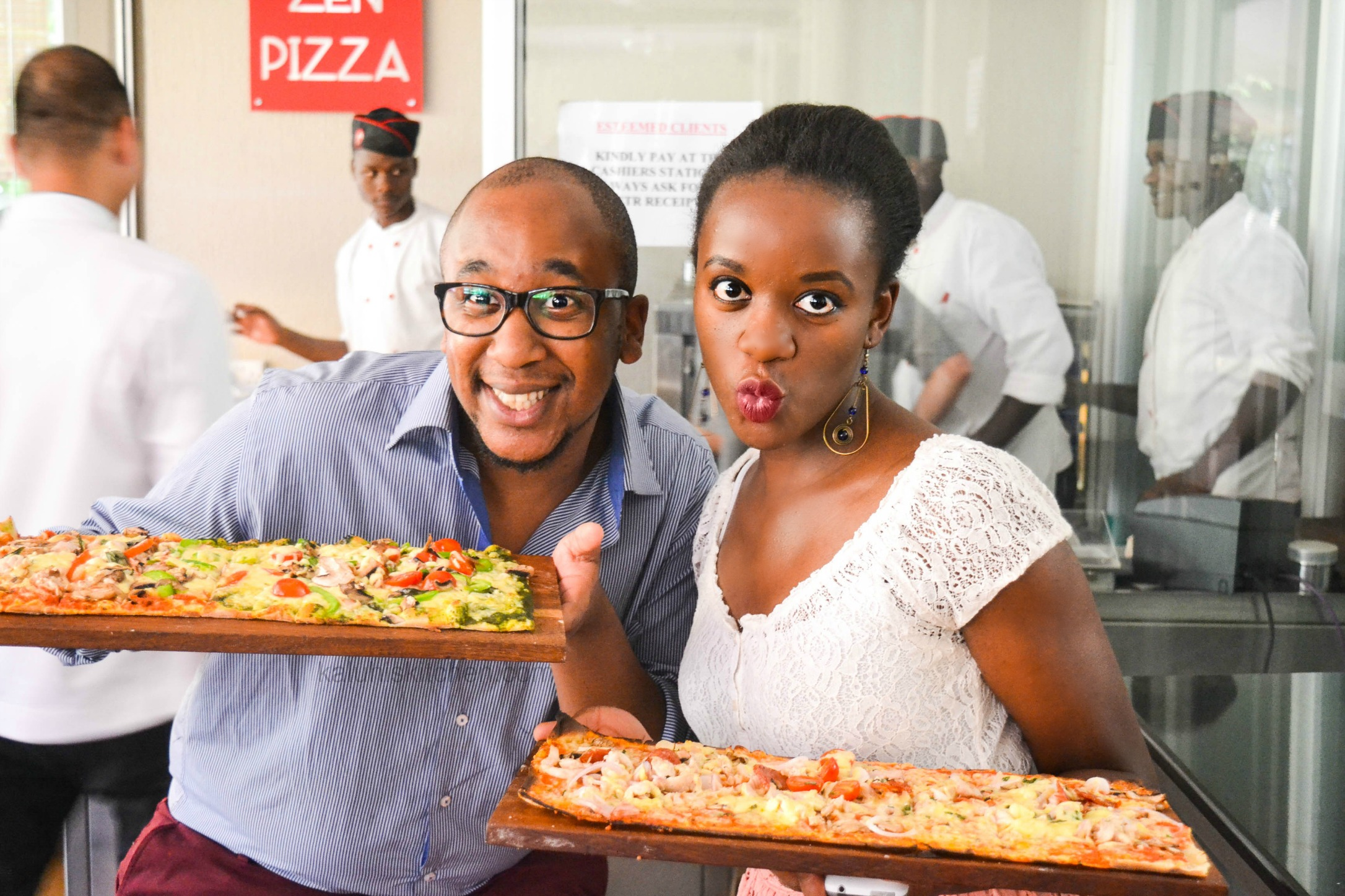Jayson Mbogo of jaytakeapic.com and Kaluhi Adagala of kaluhiskitchen.com at the official press launch for Nairobi Pizza Festival 2015_kenyan food bloggers