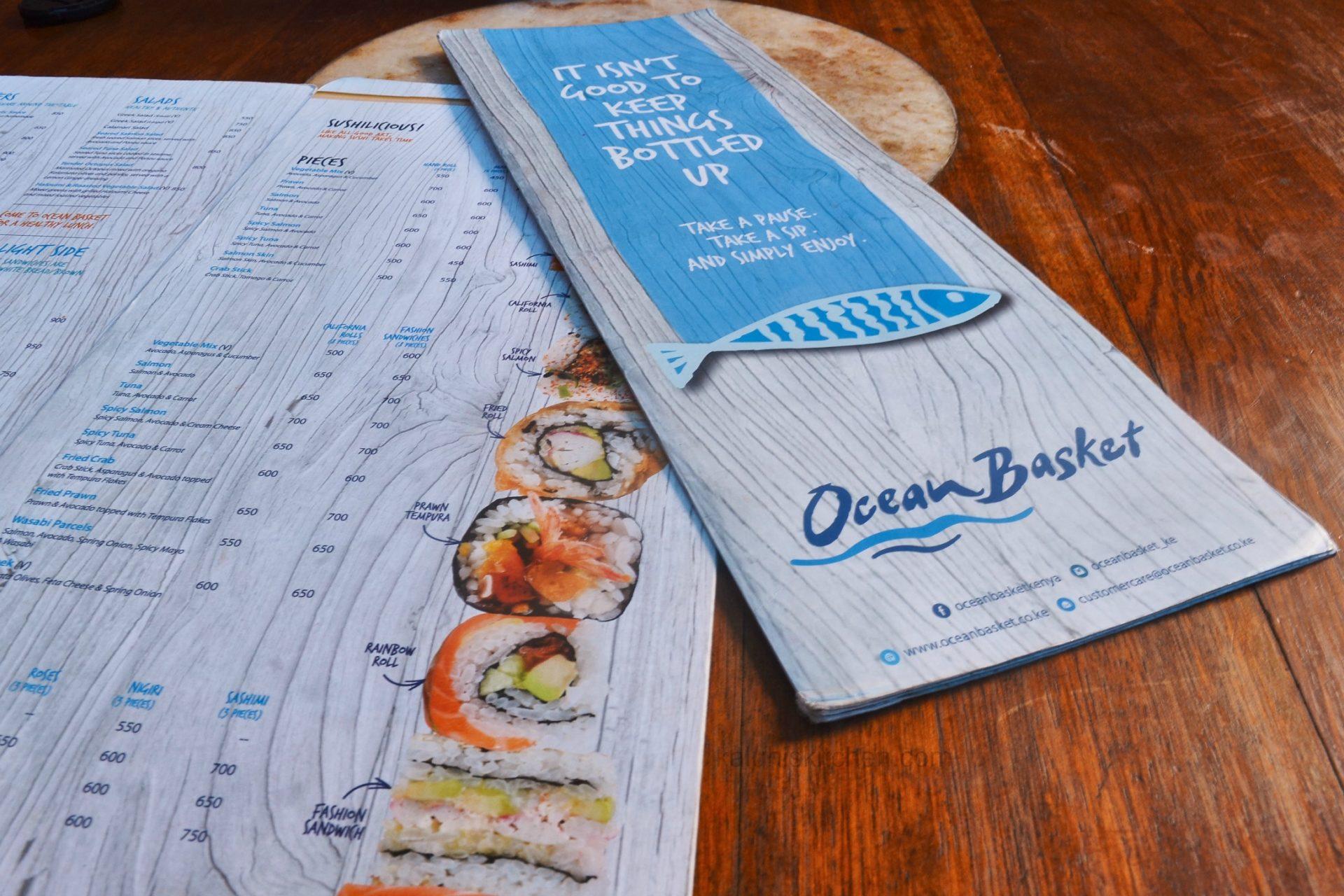 menu of ocean basket kenya offers wide variety and fair prices to ...