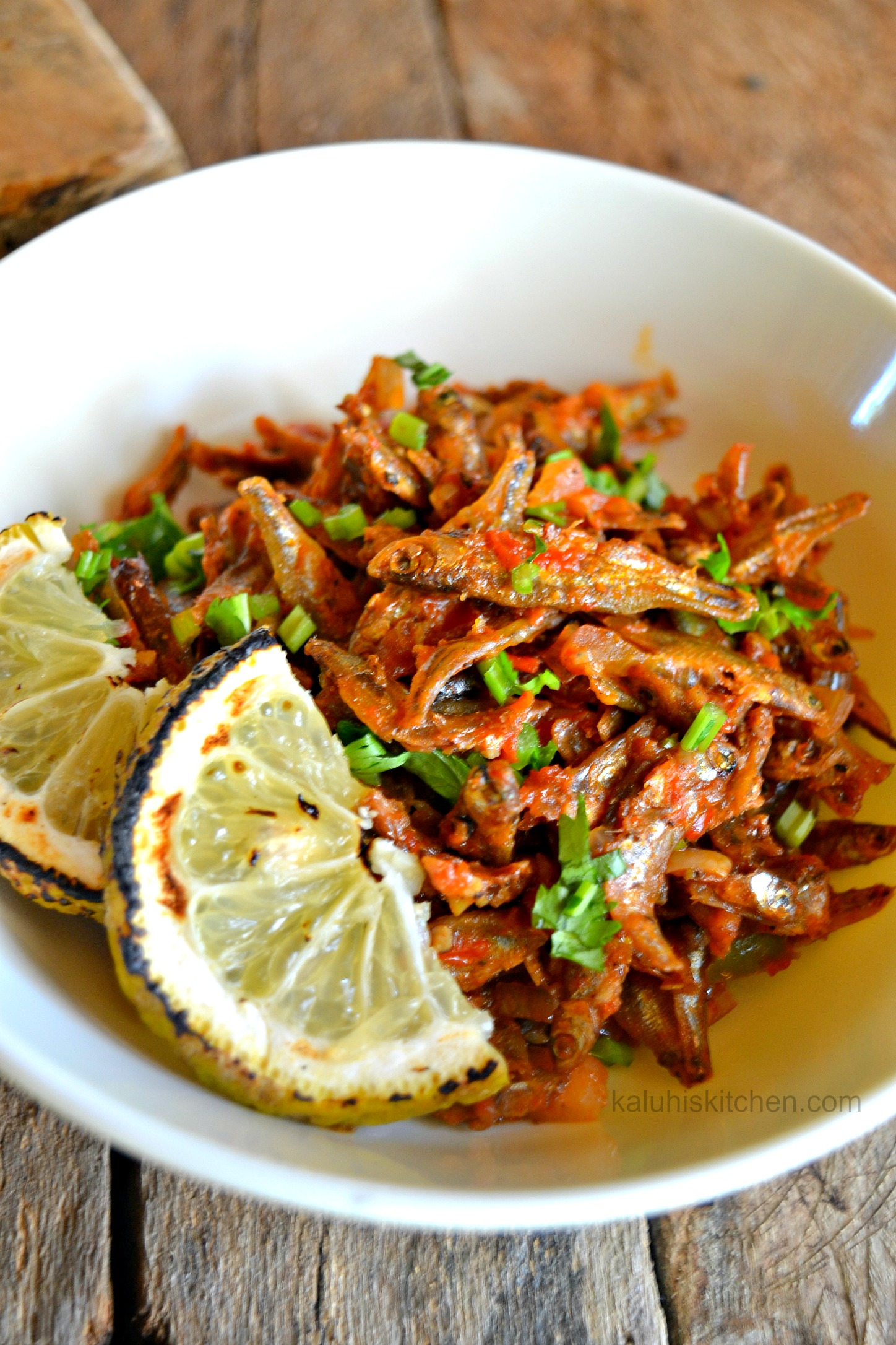 Lemon infused chili omena for African food cuisine