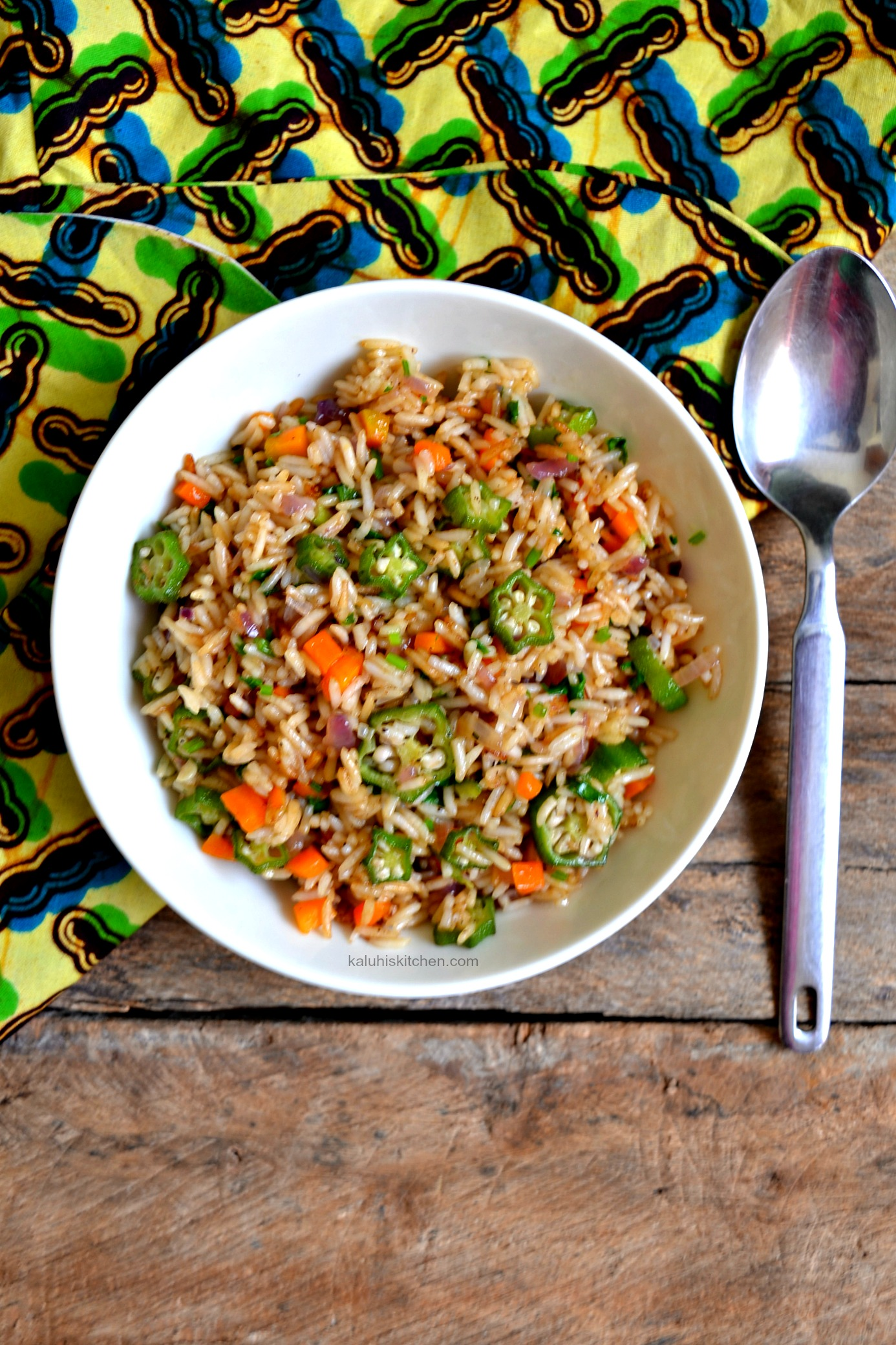 Rosemary and Okra Fried Rice