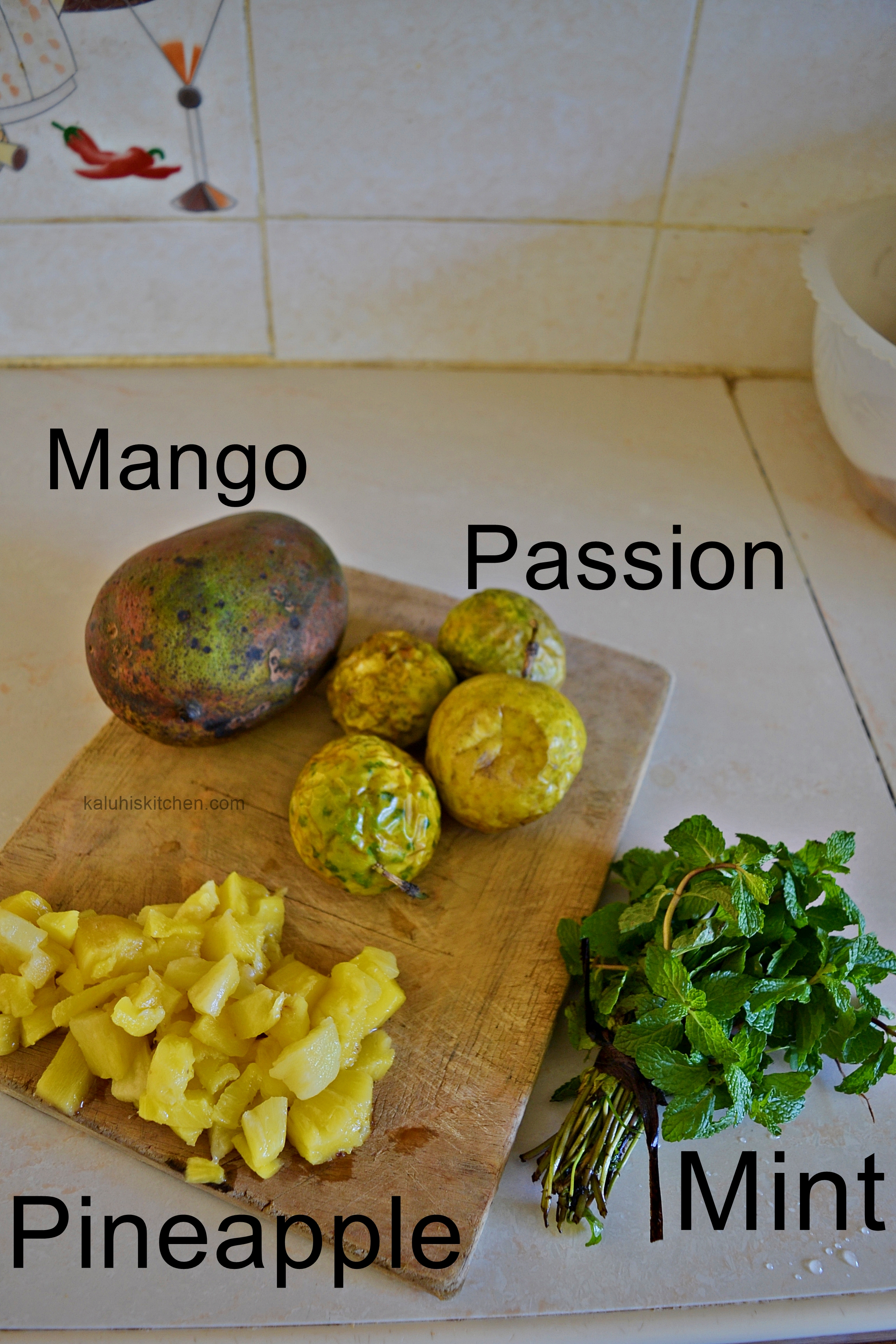 how to make mango mint salad_how to make a salad with mint_tropical salads_cooking with passion fruit_kenyan food blogs
