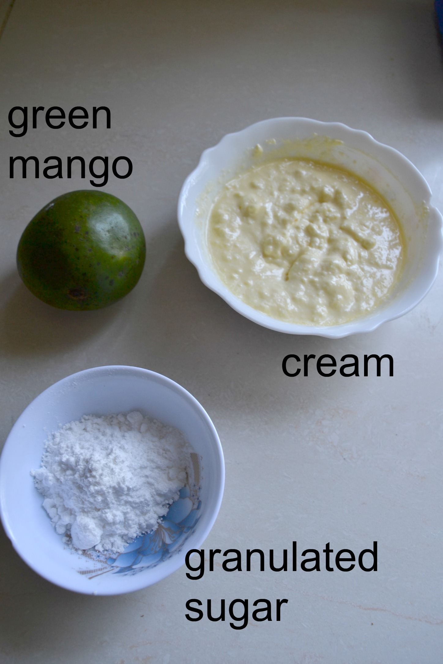 ingredients for making a posset_how to make a mango posset_posset ingredients_kaluhiskitchen.com