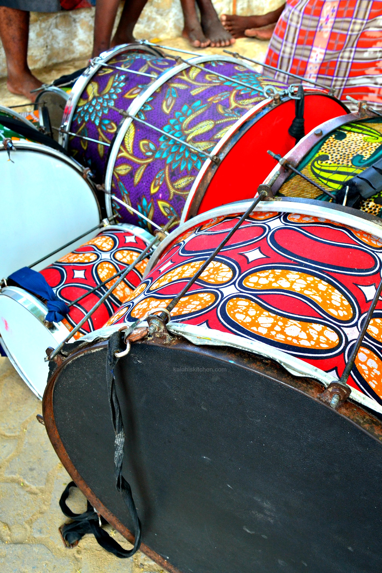 drum set common along the streats of Lmau_Kenyan culture_Lamu food festival_kaluhiskitchen.com
