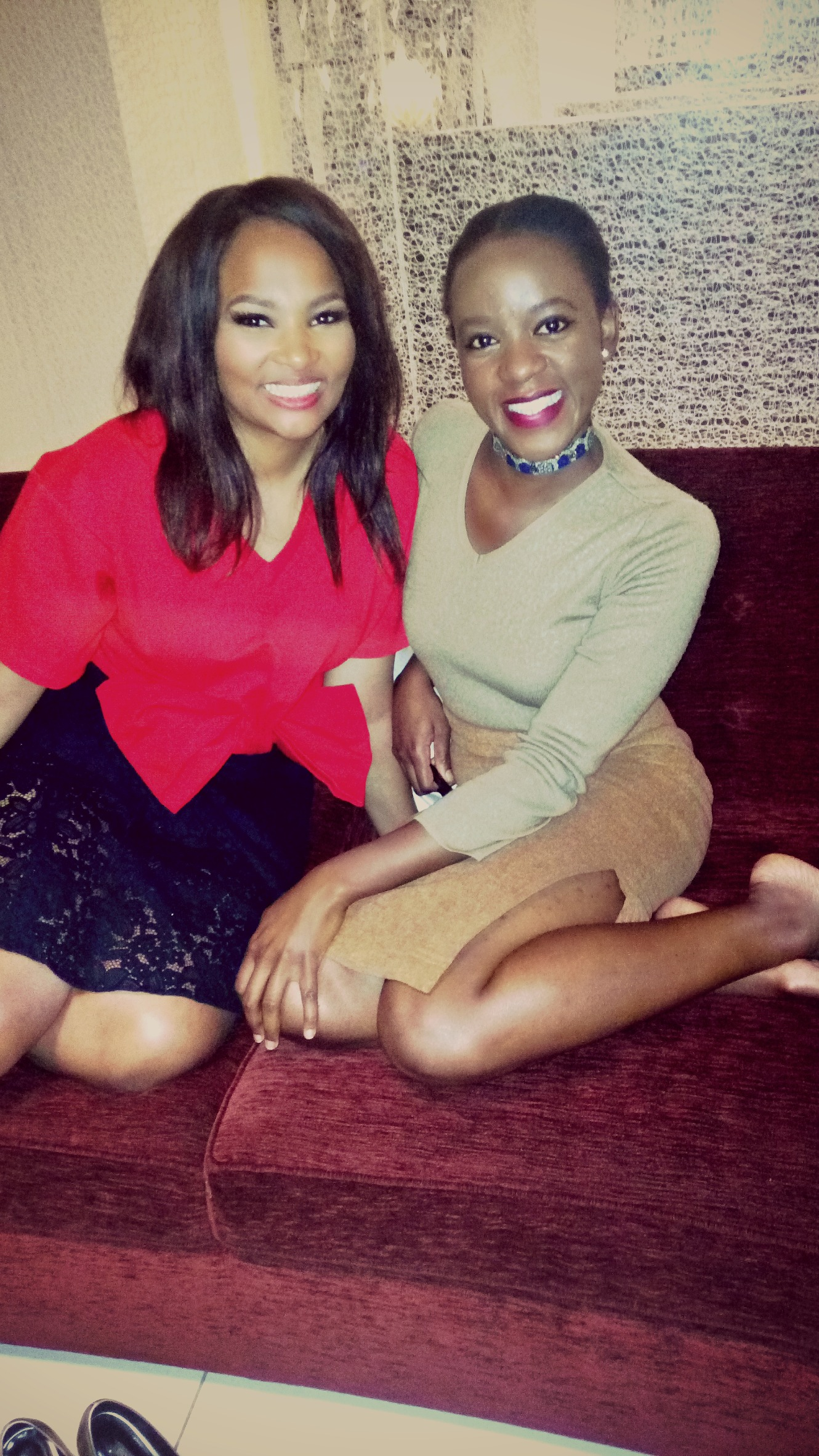 Kaluhi Adagala and Siba Mtongana at her exclusive interview at Radisson blu Nairobi_