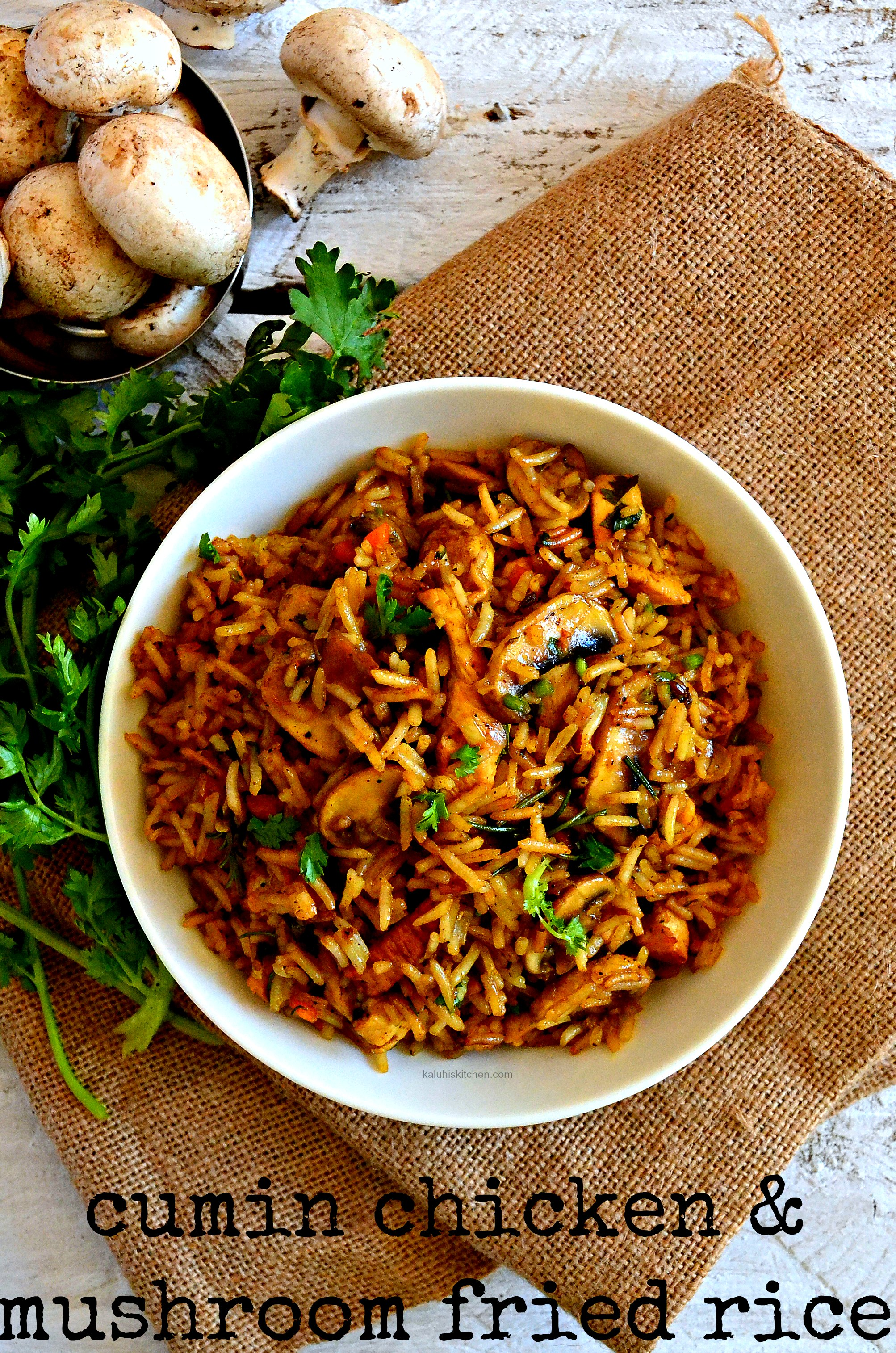 Cumin chicken and mushroom fried rice now lets get into this bomb recipe ccuart Gallery