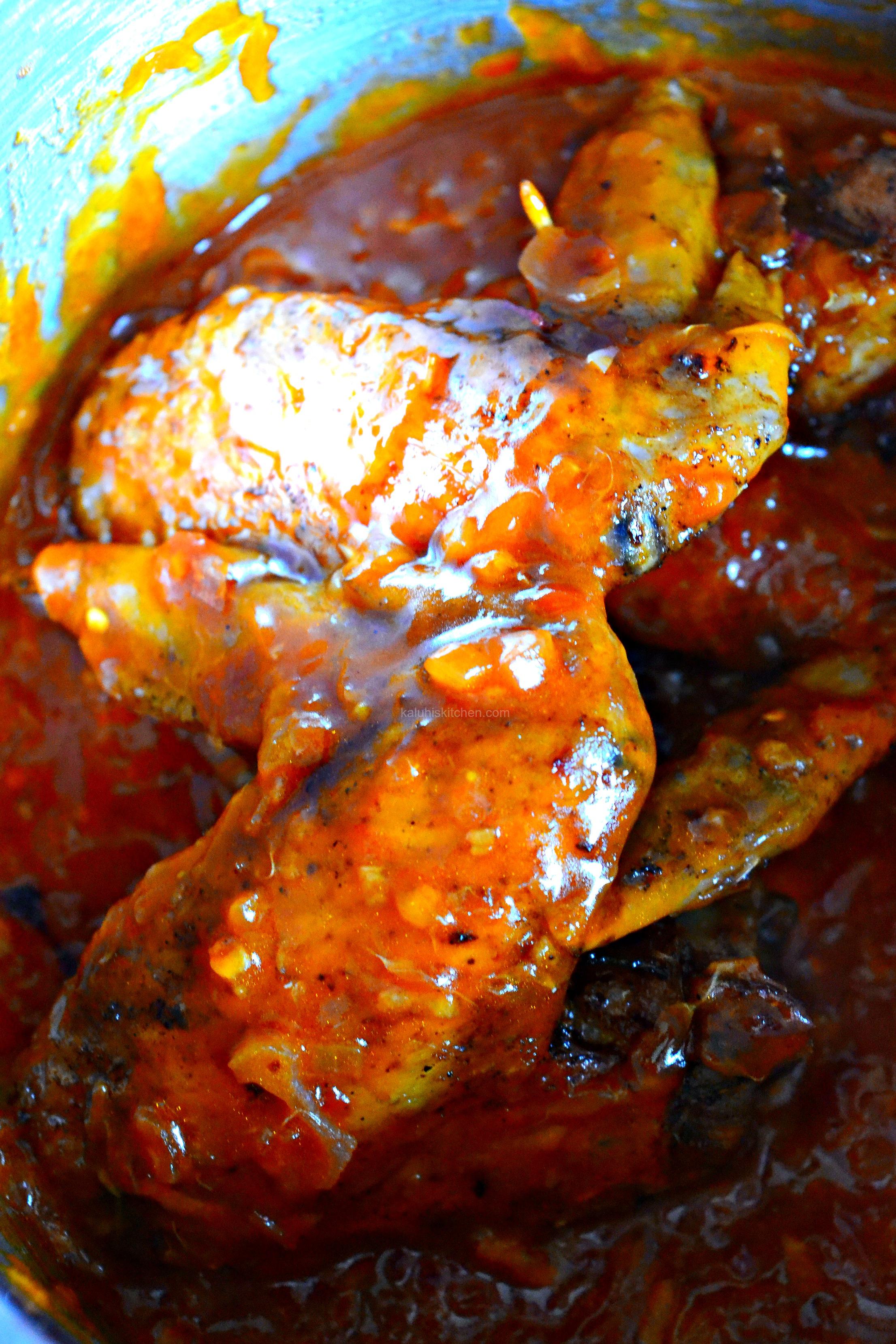 Chili Chicken wings in Orange Whiskey Sauce